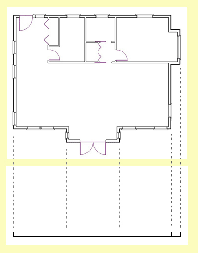 floor plan with front wall