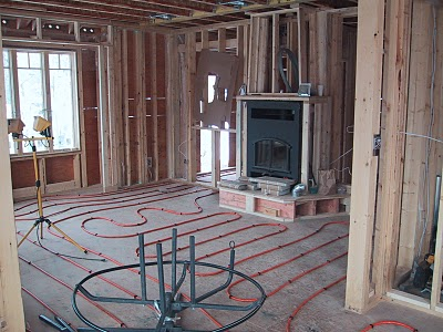 radiant heating under wood flooring