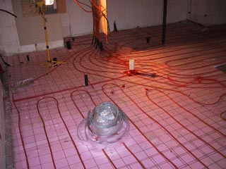 Infloor Heating Basement