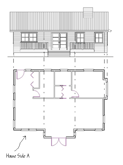 floor plan with elevation